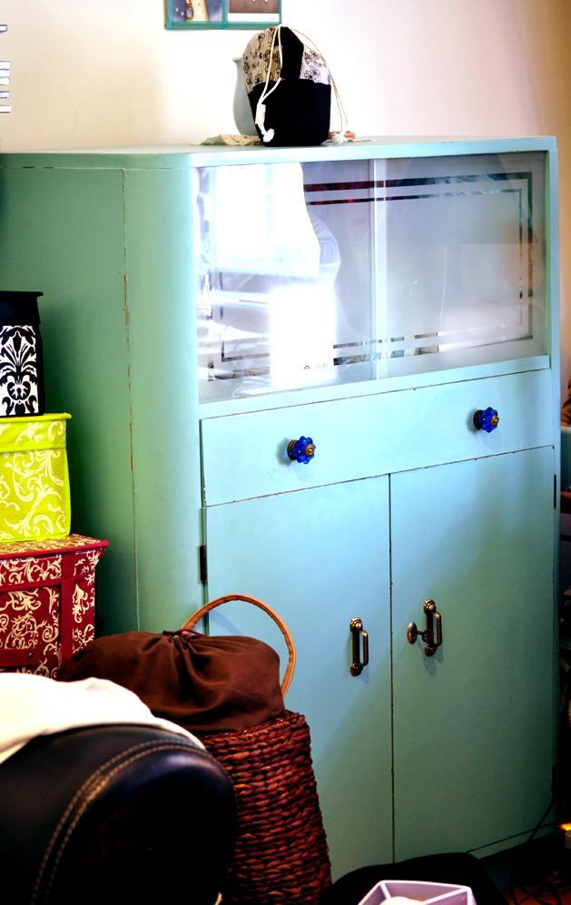 shabby chic hand painted closet